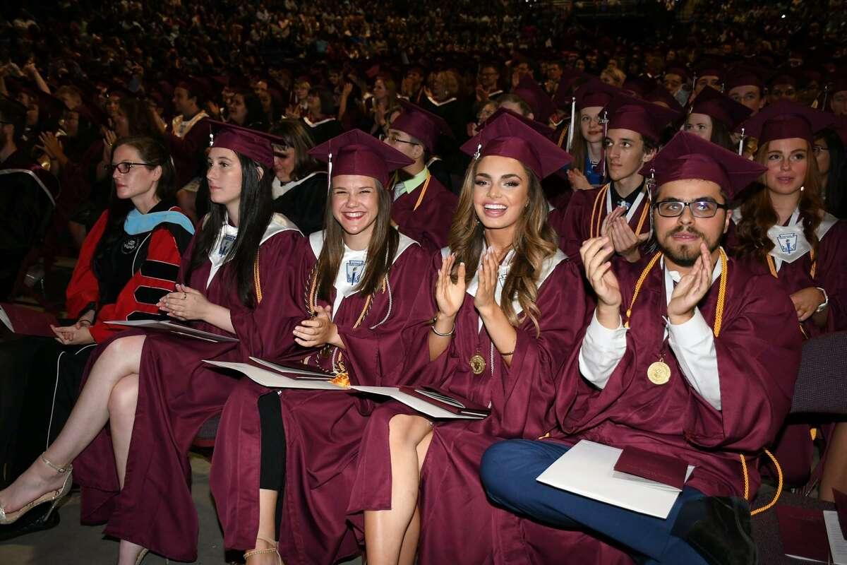 Cy-Fair High School class of 2019 enjoy their graduation ceremony at the Berry Center on Thursday, May 30.