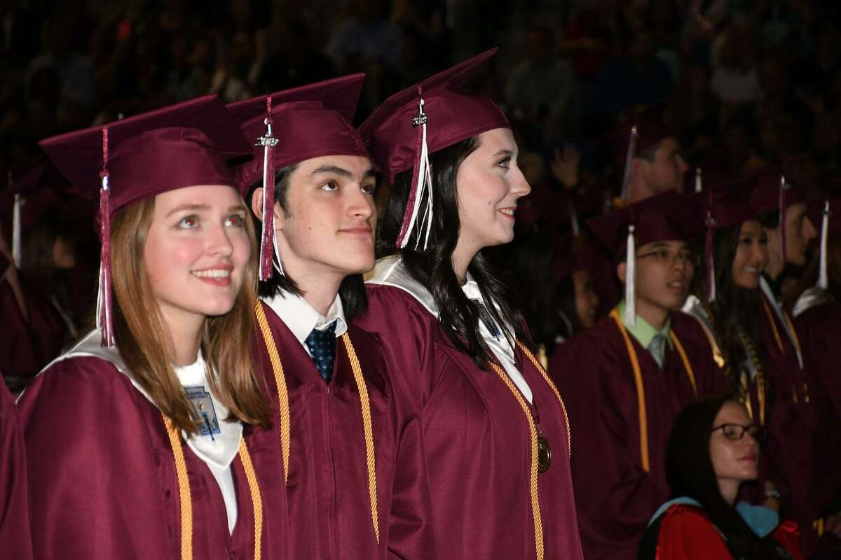 Cy-Fair High School class of 2019 enjoy their graduation ceremony at the Berry Center on Thursday, May 30.