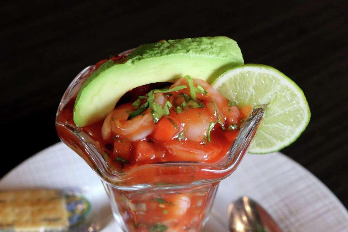 Coctel de Camaron (Mexican style shrimp cocktail) at Sylvia's Enchilada Kitchen