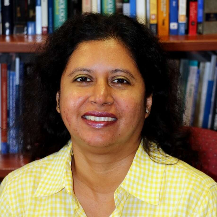 """Mehnaaz Momen, associate professor of public administration at Texas A&M International University, is the author of the new book titled, """"Political Satire, Postmodern Reality, and the Trump Presidency: Who Are we Laughing At?"""". Photo: Courtesy"""