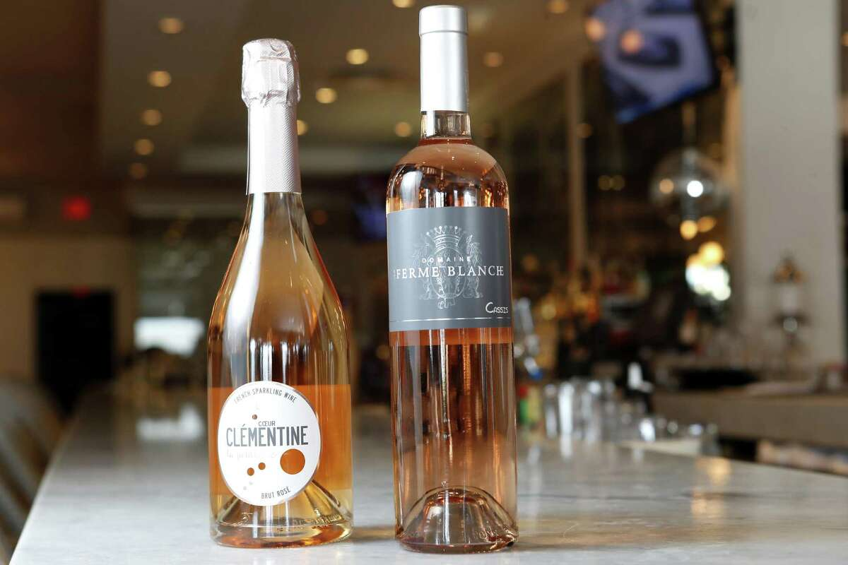 """Coeur Clementine """"La Petillante"""" Brut Rose and Domaine de la Ferme Blanche Cassis Rose are shown at Brasserie 19 on Monday, May 20, 2019, in Houston. Her sommelier selections are:"""