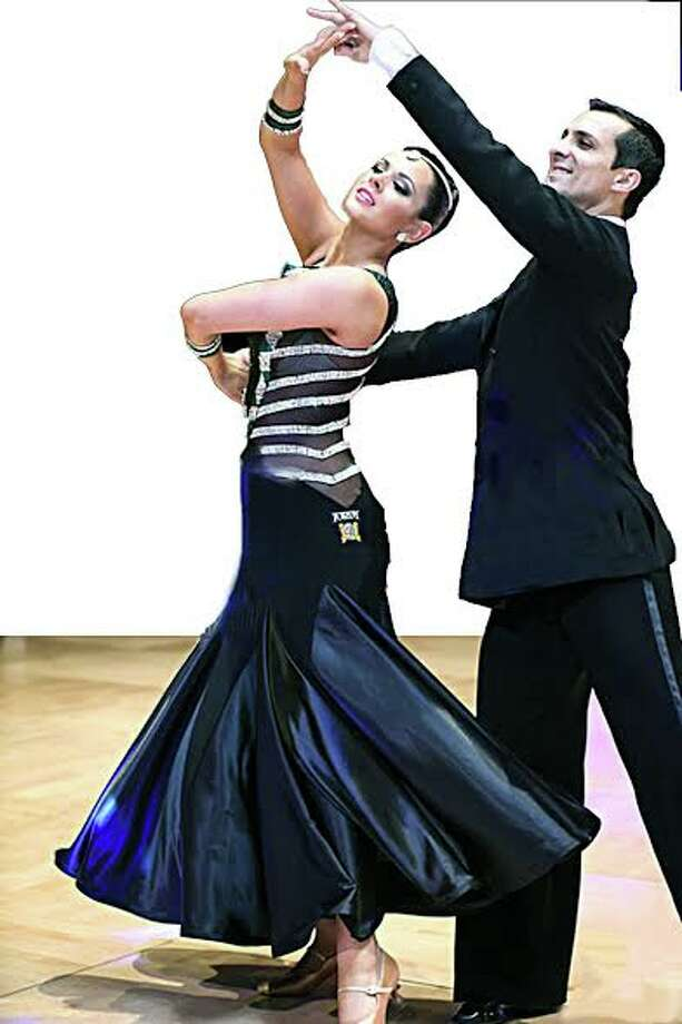 Samantha Gillis of Trumbull, with her teacher-partner Marko Urosevic, danced her way to the United States pro-am ballroom title in Orlando last fall. Samantha will show off her winning routines when she performs Saturday, Feb. 27, at Premier Ballroom Dance's monthly event at the Holy Trinity Greek Church Community Center in Bridgeport.