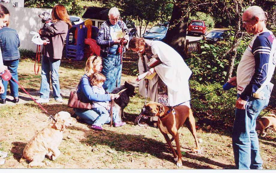 Blessing of the Animals at Trinity Episcopal Church from a previous year.