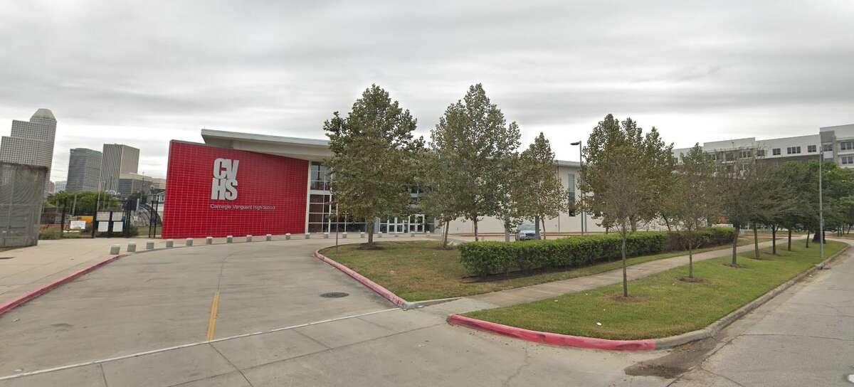 Carnegie Vanguard High School (Houston ISD) Houston Metro ranking: 2National ranking: 24Graduation rate: 100%Enrollment: 637
