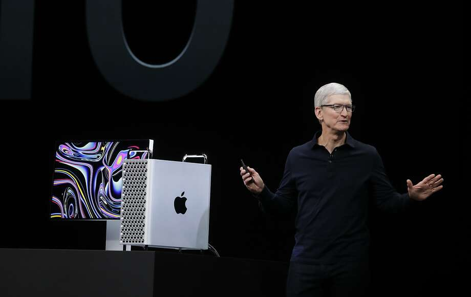 FILE - Apple CEO Tim Cook speaks about the MacBook Pro at the Apple Worldwide Developers Conference in San Jose, Calif., Monday, June 3, 2019. Apple is recalling some MacBook Pro laptops due to a fire hazard. Photo: Jeff Chiu, Associated Press