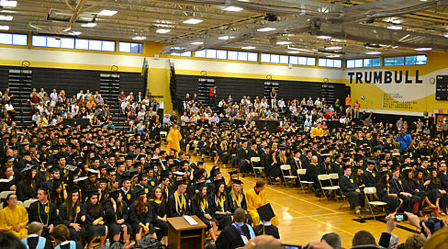 The rain forced graduation to move indoors Monday night, but that didn't stop the nearly 550 members of the Class of 2015 from celebrating. — Lisa Romanchick photo