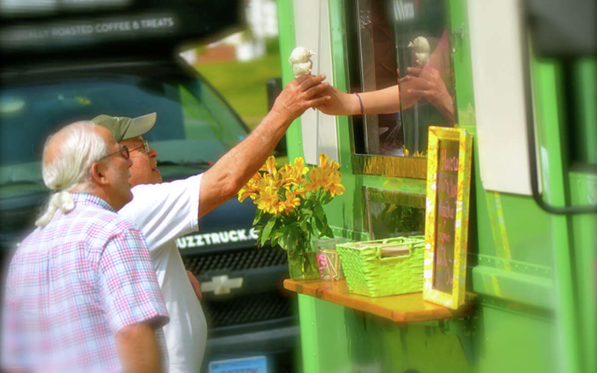 Scenes from last Thursday's Trumbull Farmers Market. -Lisa Romanchick photo