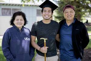 By working harder, immigrants make the rest of us feel inferior. Take   Jirayut New Latthivongskorn, shown with his parents.   He's the first undocumented immigrant to graduate from the University of California, San Francisco's School of Medicine.