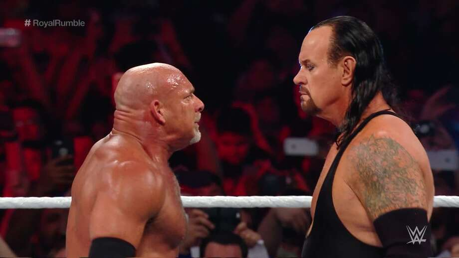 Ahead of their first-ever match against each other next Sunday at Super ShowDown in Saudi Arabia, WWE legends Goldberg and the Undertaker are both scheduled to appear in Laredo on Tuesday for WWE's SmackDown LIVE. Photo: Courtesy Photo, File