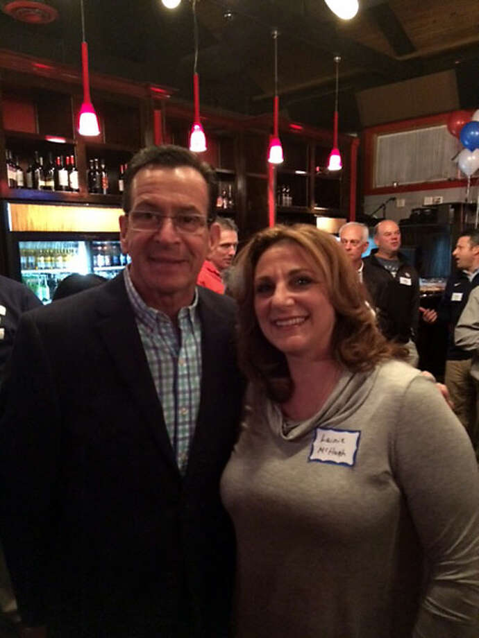 Gov. Dannel P. Malloy and Lt. Gov. Nancy Wyman were among the special guests Monday night at the Trumbull Democratic Town Committee's fundraiser at Marisa's Ristorante.