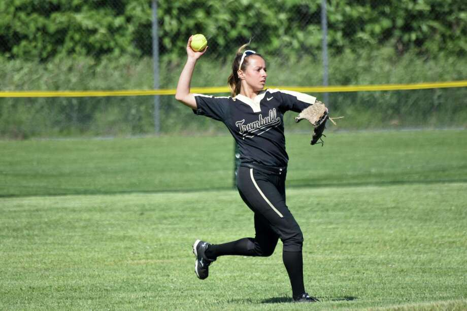 Action from the in the Class LL softball semifinals between Trumbull and Southington at DeLuca Field, Stratford on Monday, June 3, 2019. (Pete Paguaga, Hearst Connecticut Media) Photo: Pete Paguaga / Hearst Connecticut Media / Connecticut Post