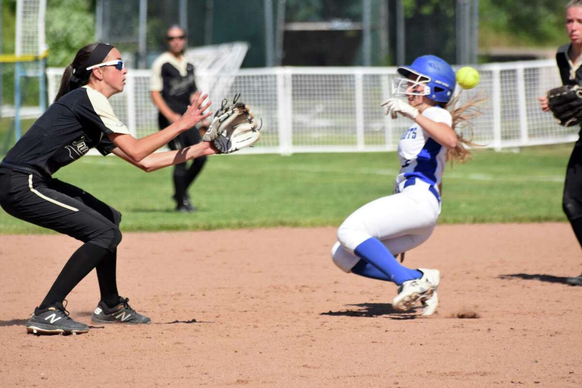 Action from the in the Class LL softball semifinals between Trumbull and Southington at DeLuca Field, Stratford on Monday, June 3, 2019. (Pete Paguaga, Hearst Connecticut Media)