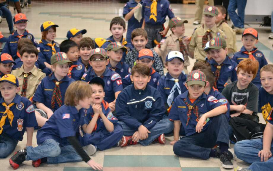 Jane Ryan Cub Scouts recently hosted Sam Rodrigue, 9, founder of Sam's Kids food drives. Sam's Kids has donated more than 11,000 pounds of food to local food pantries since September.