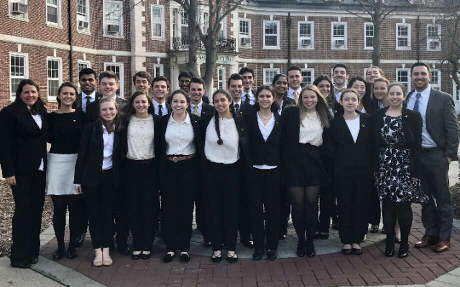 "The Trumbull High School ""We the People"" academic team won its sixth consecutive state championship last week at Central CT State. —Submitted"