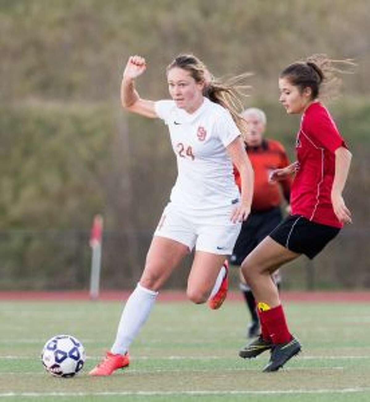 The Cadets' Lindsey Savko scored two goals, including her 30th of the season.