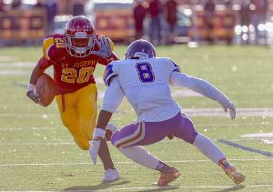 St. Joseph's Jaden Shirden scored two touchdowns. — David G. Whitham photo