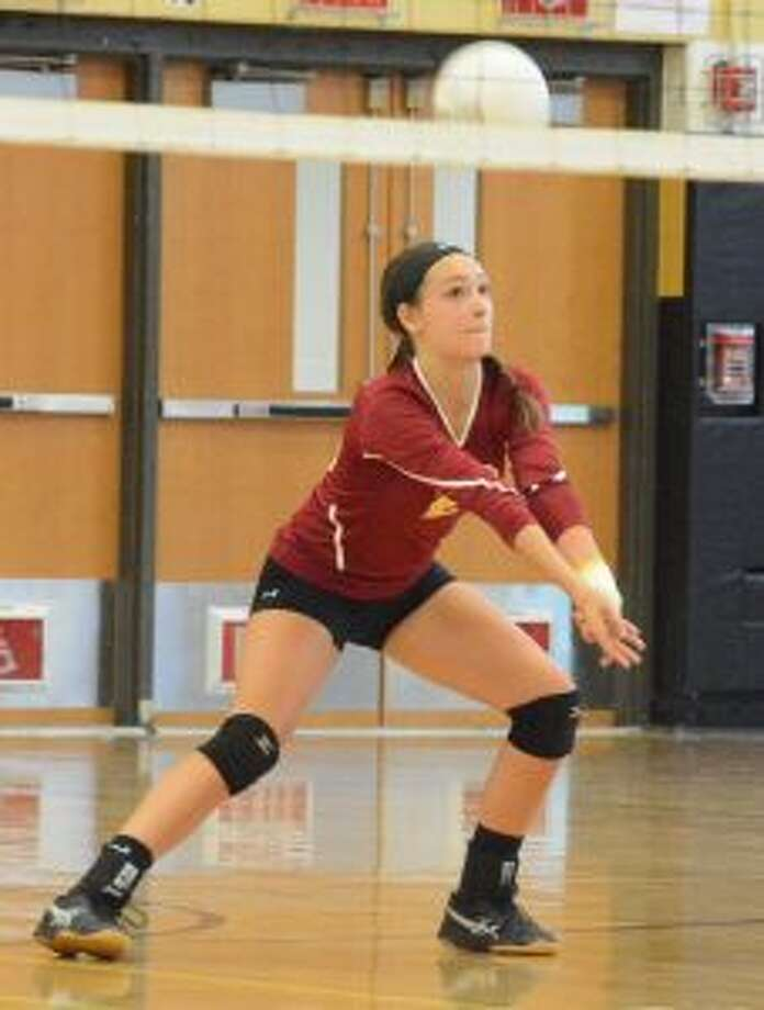 St. Joseph's Bridget Fatse had 14 kills in the Cadets' 3-2 win. — Andy Hutchison photo