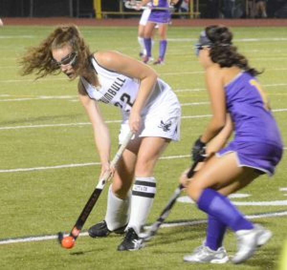 Trumbull's Mimi Leonard scored a goal and had an assist versus St. Joseph. -Andy Hutchison photo