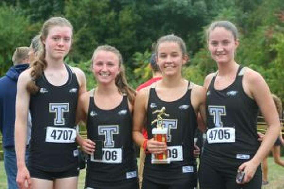 Molly Malloy, Margaret LoSchiavo, Kate Romanchick and Sophia Hopwood competed well for Trumbull High at the Wickham Invitational.