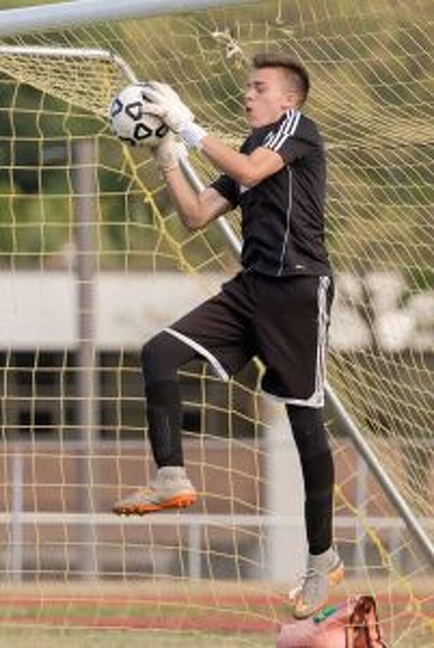 Trumbull High's Jonathan Campbell had 10 saves. — David G. Whitham photo
