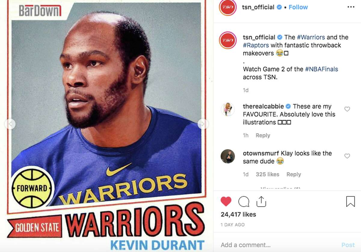A Canadian website gave Warriors and Raptors players amusing