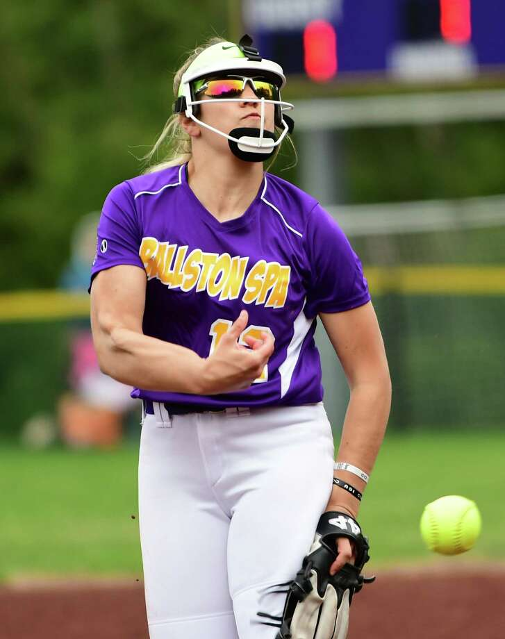 Ballston Spa pitcher Lauren Kersch throws the ball during a softball game against Shenendehowa on Wednesday, May 1, 2019 in Ballston Spa, N.Y. (Lori Van Buren/Times Union) Photo: Lori Van Buren / 20046792A