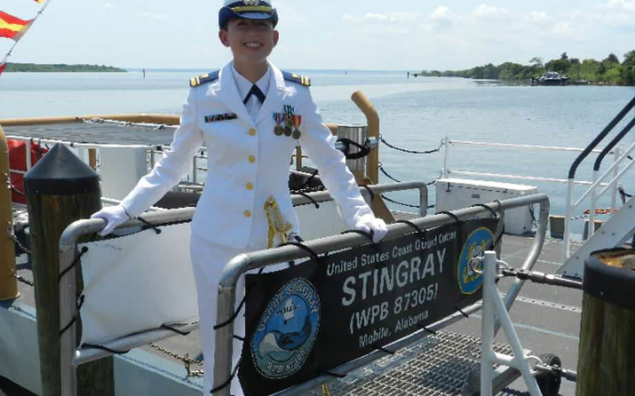 Trumbull native Lydia DeCastra, a St. Joseph graduate, recently took command of the Coast Guard Cutter Stingray.