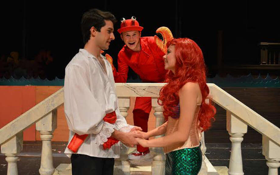 Tickets are on sale for The Little Mermaid, presented by the Trumbull Youth Association. Performances will be held from Thursday, Aug. 4 through Sunday, Aug. 7, at Trumbull High School, with a free performance for senior citizens on Wednesday, Aug. 3. Elena Kemper as Ariel, Dominic Pagliaro as Prince Eric and Matt Bader as Sebastian.