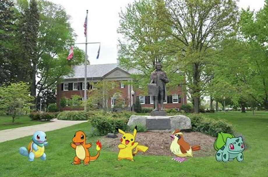 The Trumbull Town Hall area is a Pokémon Go hot spot.