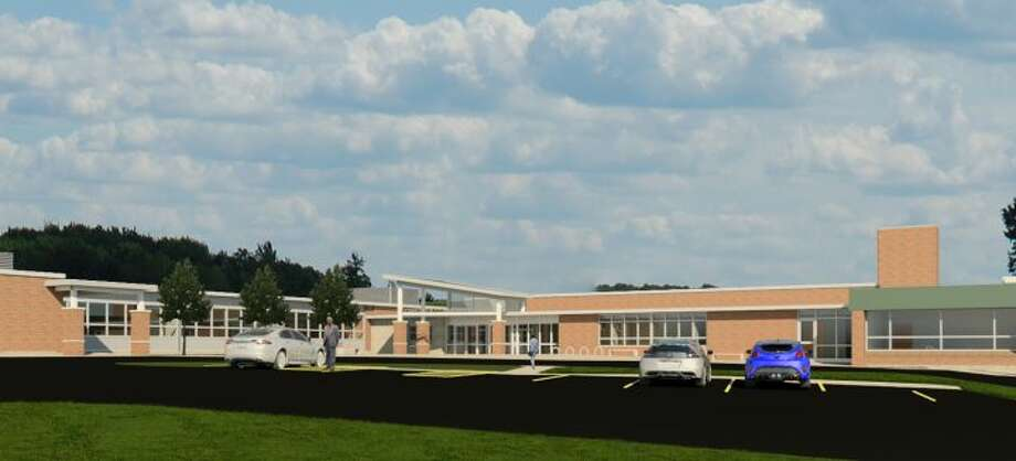 A rendering of Wilton's Comstock Community Center produced by Quisenberry Arcari Architects.