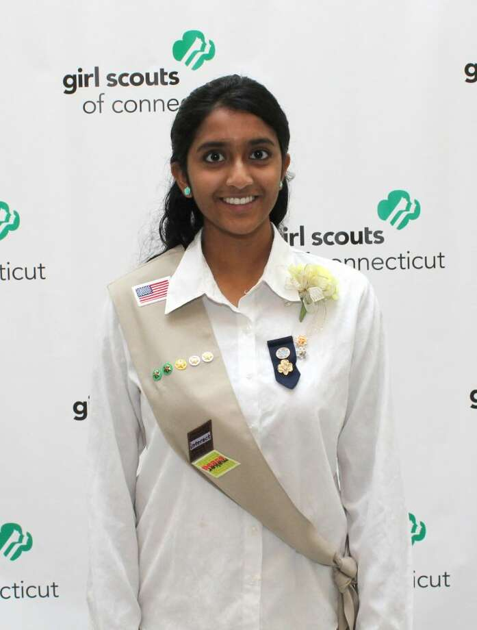 Trumbull Girl Scout Lahari Kota received the Gold Award last week. The Gold Award is the highest possible award one can earn from the Girl Scouts of America.