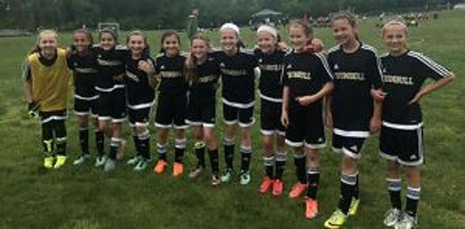 The U-11 Trumbull United Heat advanced to the Elite 8 of the Connecticut Cup. Team members are Jamie McMahon, Olivia Cunha, Korrie Munoz, Lexi Vanstone, Abby Leonzi, Cici Orizotti, Maddy Lojko, Megan Garrity, Riley Trubovich, Julia Bike and Taylor Lilly. The team is coached by Jamie Jorge.