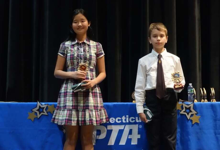 Frenchtown Elementary School fifth grader Johannes Rysse and Madison Middle School sixth grader Catherine Xie were honored in Fairfield last week at the statewide reception for Reflections winners. Both were winners of the National Reflections Award of Merit.