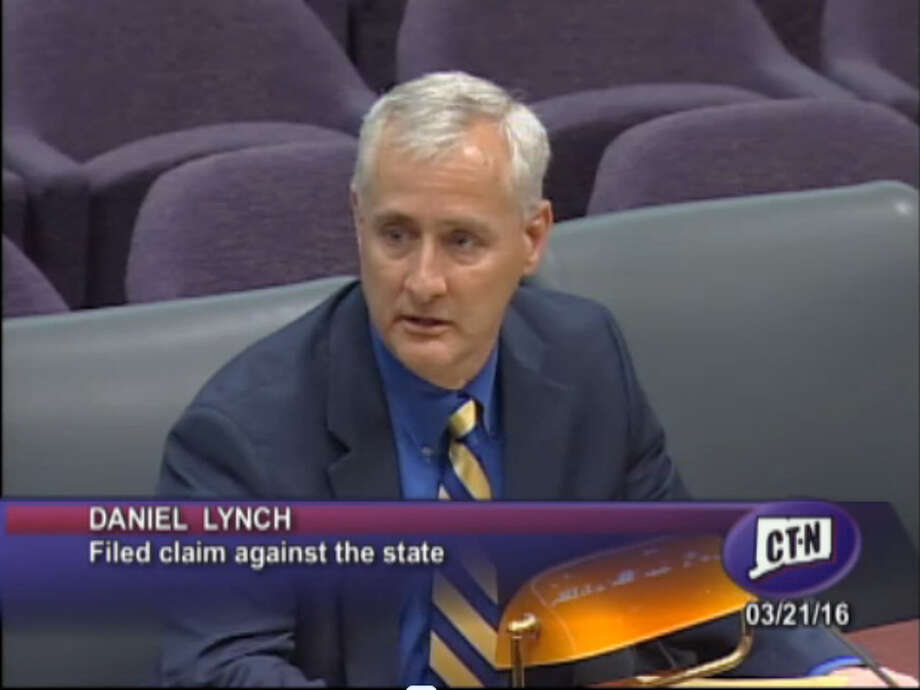 Trumbull resident Dan Lynch testifies in Hartford earlier this year.