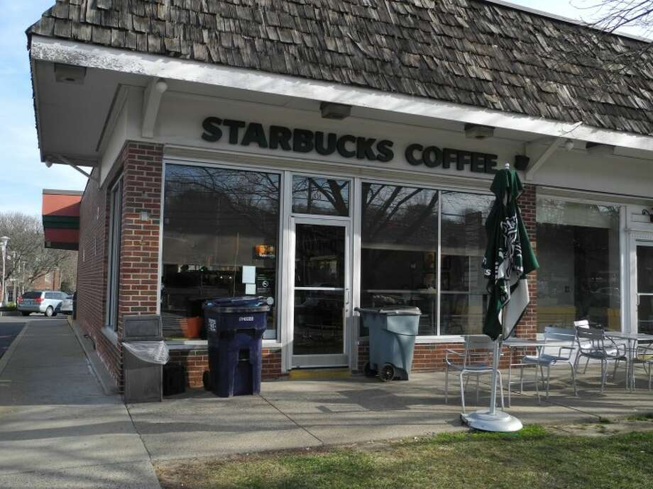 The Starbucks on White Plains Road in Trumbull where police found a 24-year-old Stratford man unconscious in a bathroom Wednesday afternoon. He was later pronounced dead from a suspected heroin overdose.