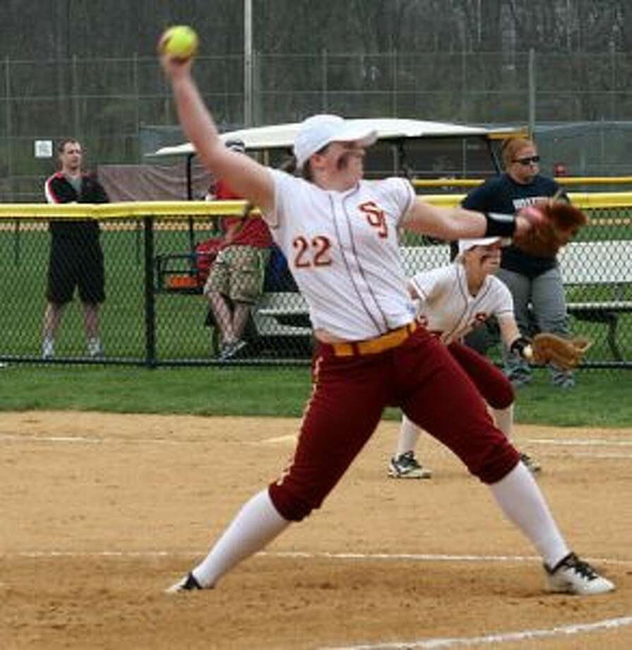 Nicole Williams struck out 14 of the 15 batters she faced in pitching her gem. — Bill Bloxsom photo
