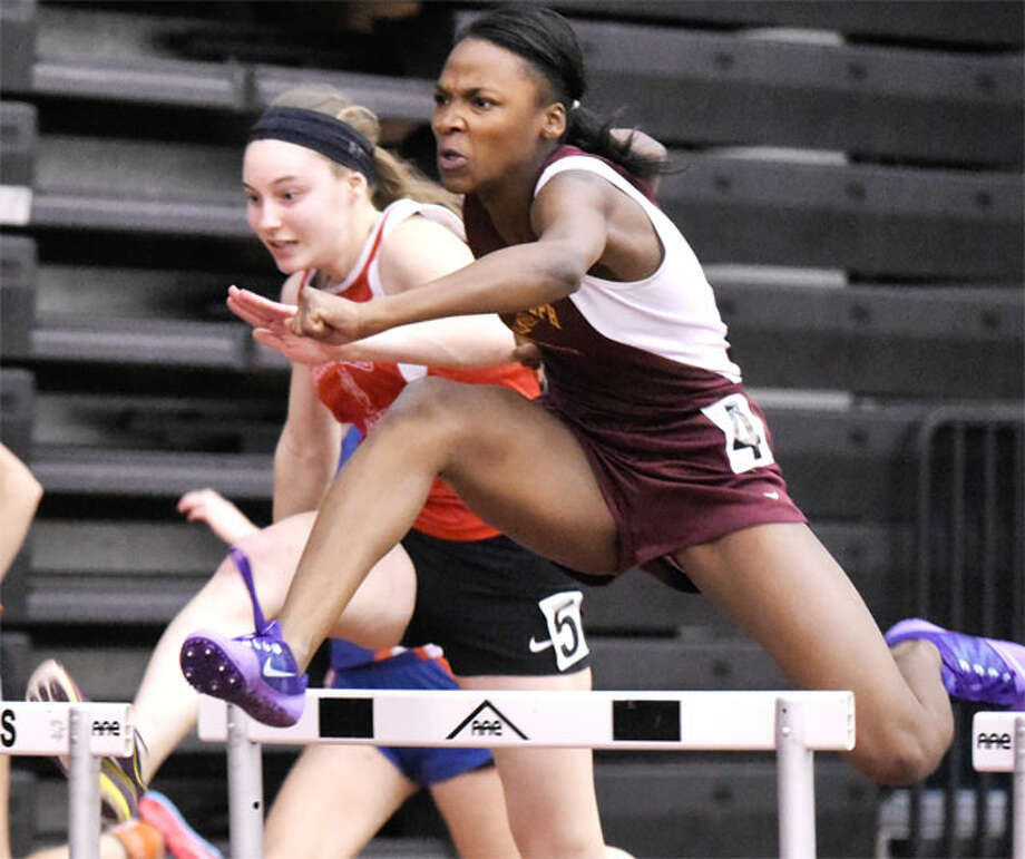 St. Joseph High School's Jada Harris took part in three events at the O'Grady Relays. — Dave Stewart photo