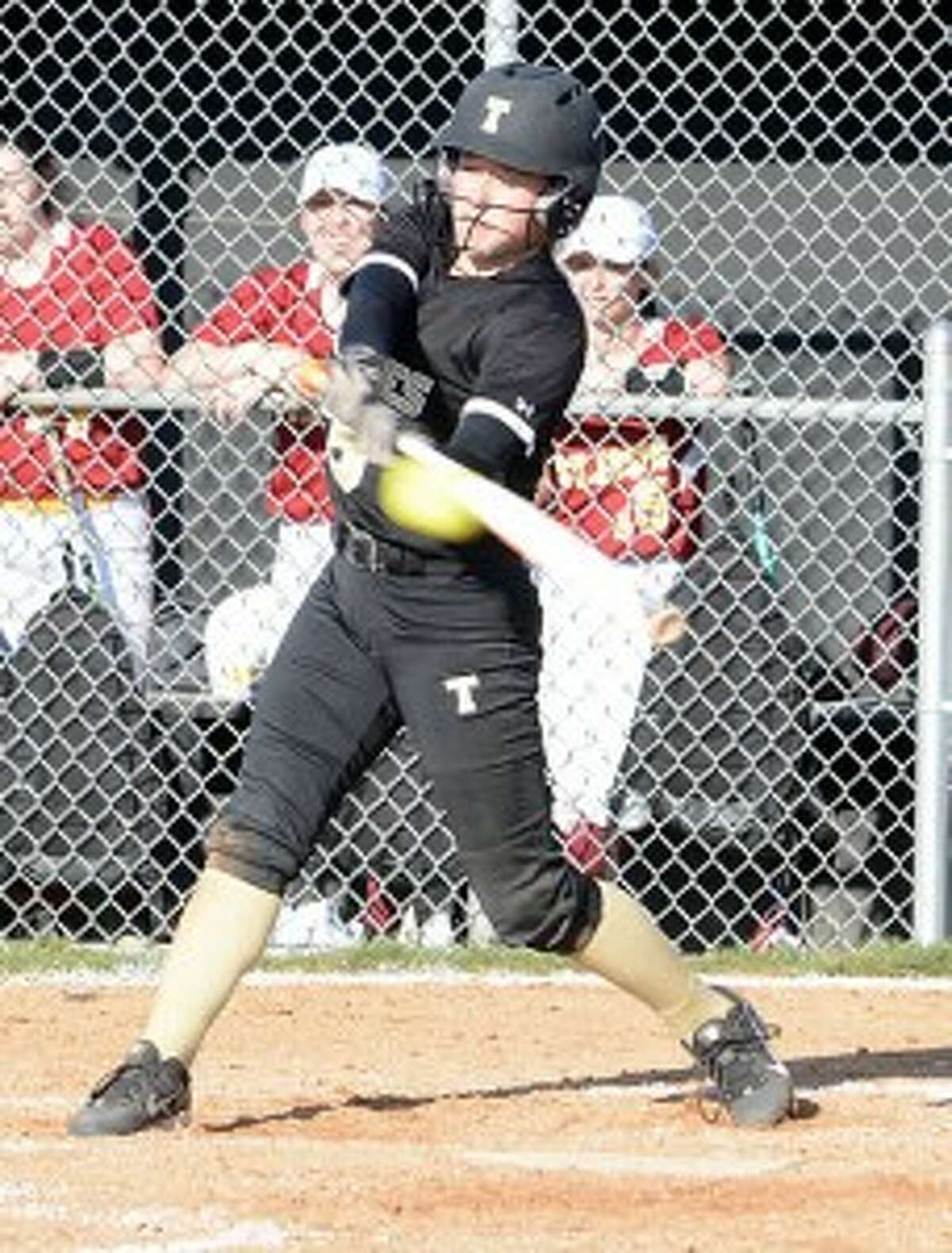 Briana Giacobbe had a two-run triple for Trumbull. - Andy Hutchison photo