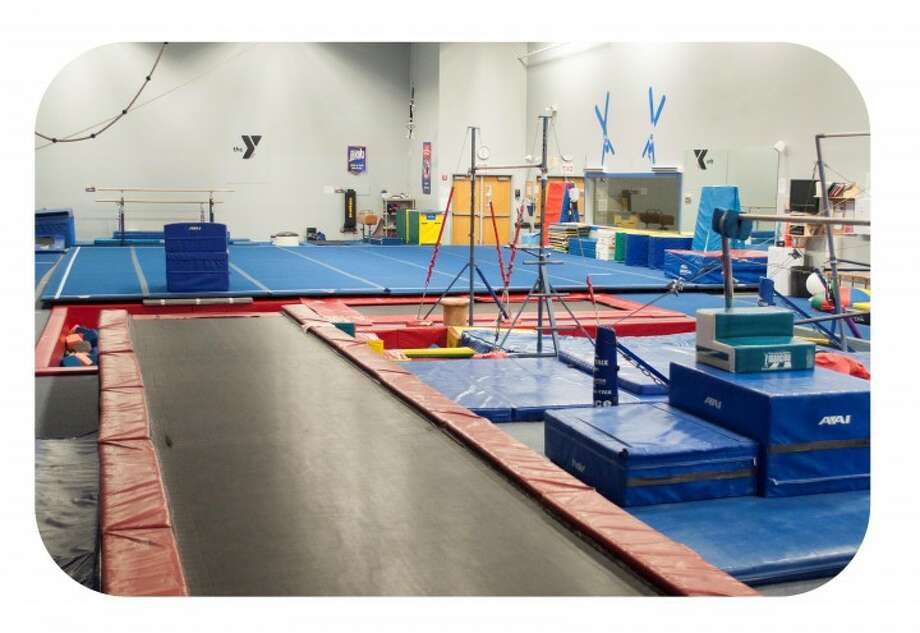 The gymnastics studio inside the Lakewood-Trumbull YMCA.
