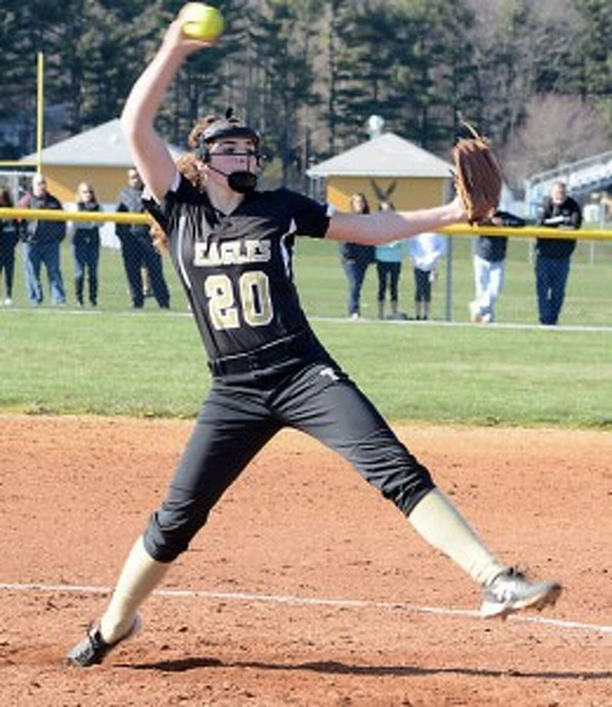 Ally Szabo struck out 12 batters against Warde. - Andy Hutchison photo