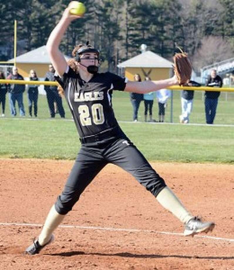Ally Szabo struck out 12 batters against Warde. — Andy Hutchison photo