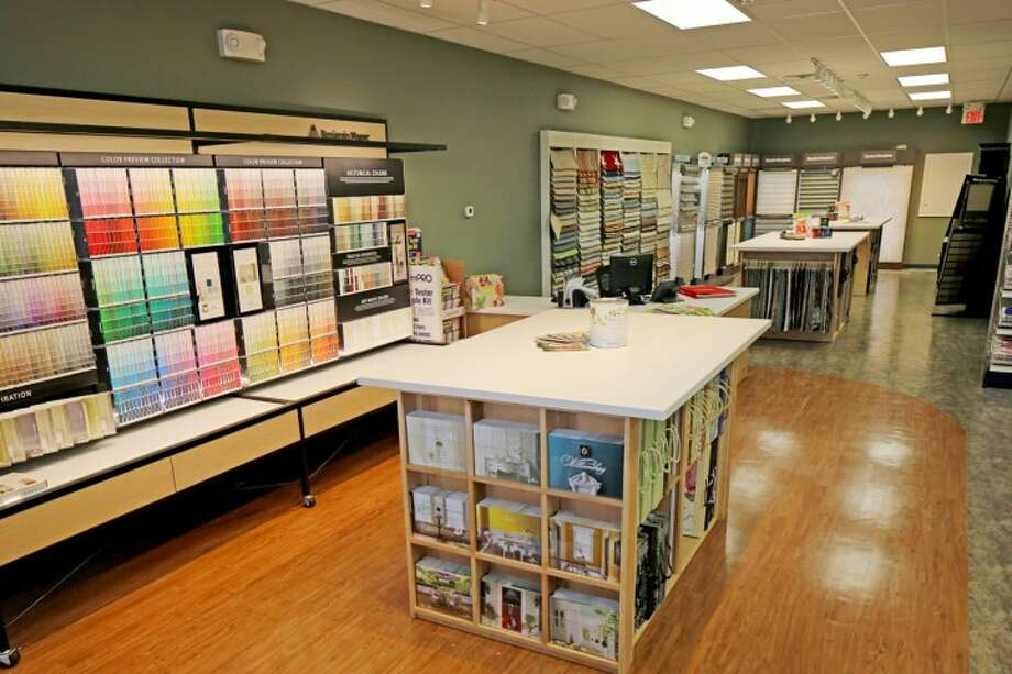 Inside the new paint and design center on White Plains Roads.