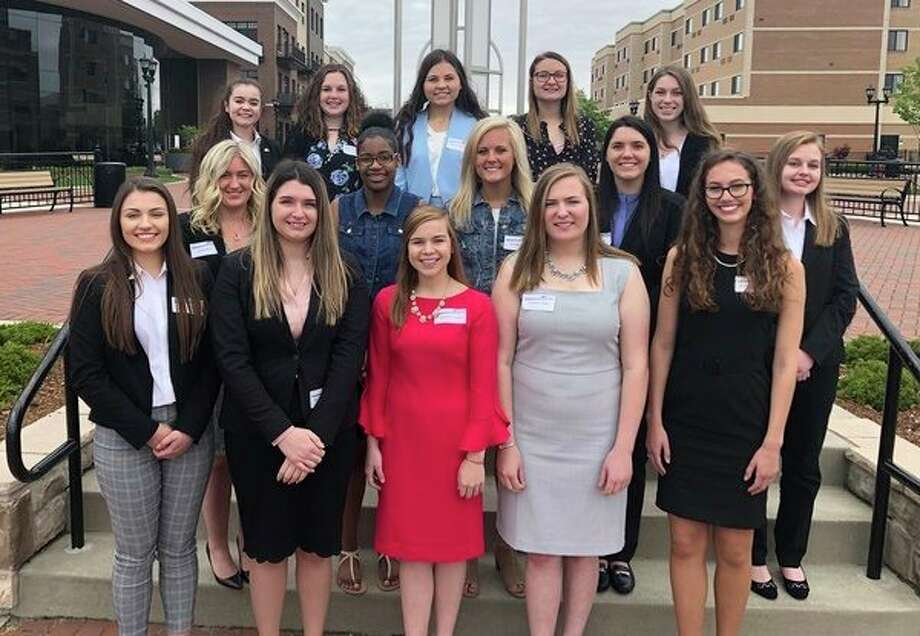 The finalists vying to become the 2019 Michigan Sugar wueen as part of the Michigan Sugar Queen Scholarship Program are, from left: Front row-- Emily Jaremba, Breanna Moore, Channon Turrell, Jennifer Gibbs and Grace Kendziorski; middle row-- Linde Bolle, Nailah Kelley, Maddy Lamm, Faith Haener and Kendyl Wilson; back row-- Madelyn Day, Amanda Errer, Allyson Simmons, Morgan Fiedler and Hannah Newsom. (Photo provided)
