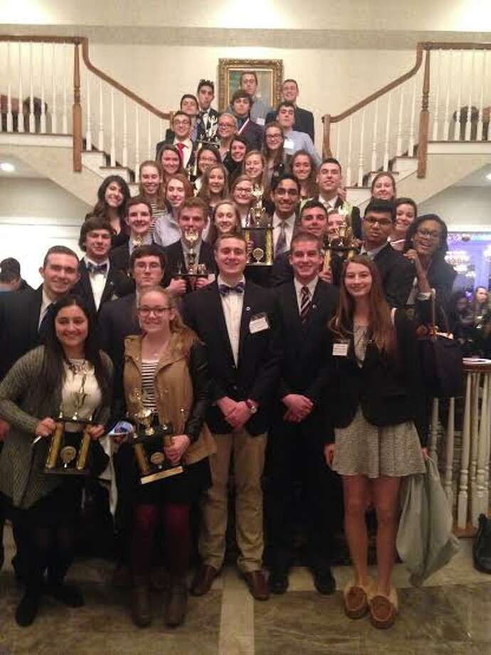 Trumbull's DECA club at the Aqua Turf Club March 1.