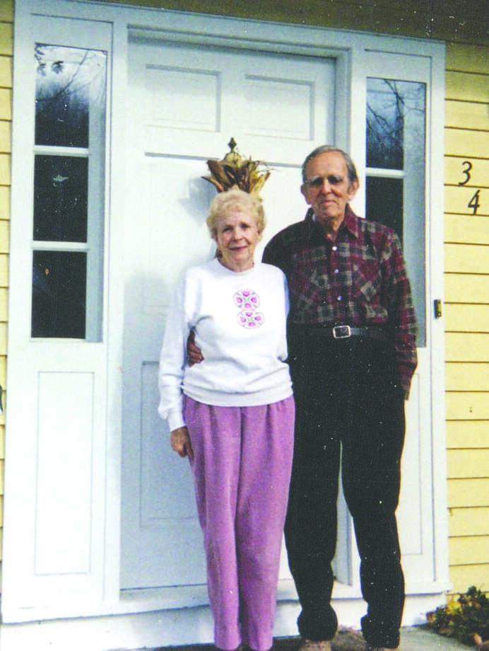 Allen and Ginny Finkenaur at their home on Heritage Drive.