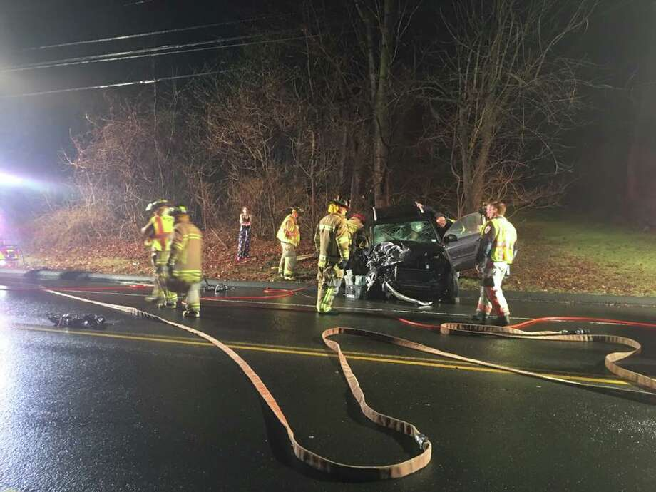 The scene of the accident on Church Hill Road between Edison Road and Taits Mill Road that involved Town Clerk Suzanne Burr Monaco and her husband, Domenic.