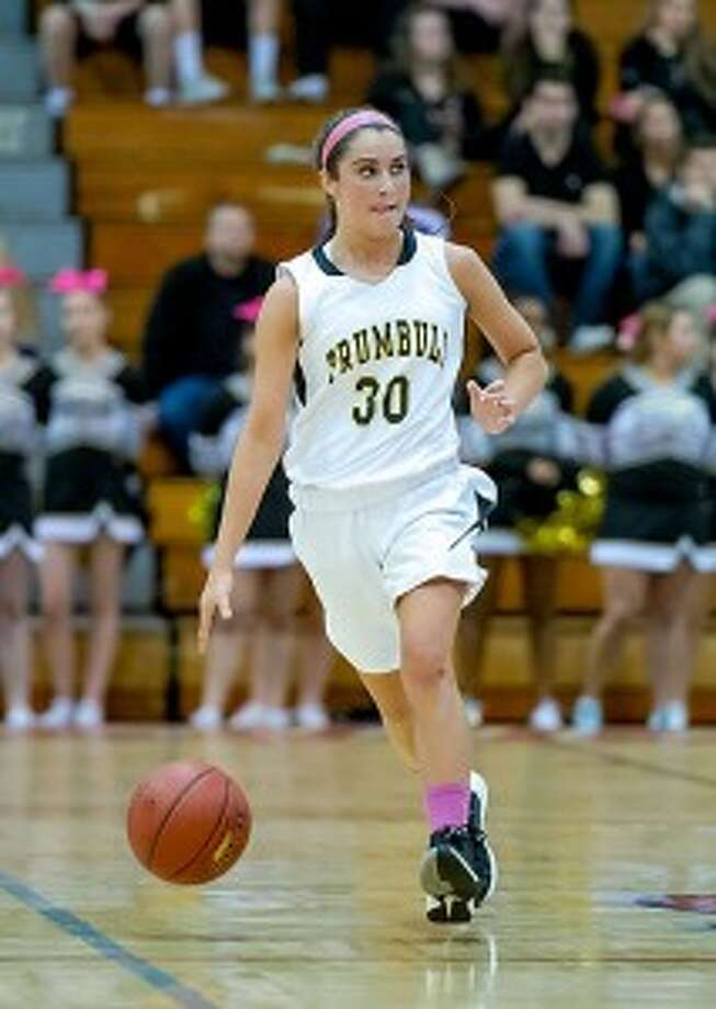 Trumbull's Victoria Ray had five assists and five rebounds versus Westhill. — David G. Whitham photo
