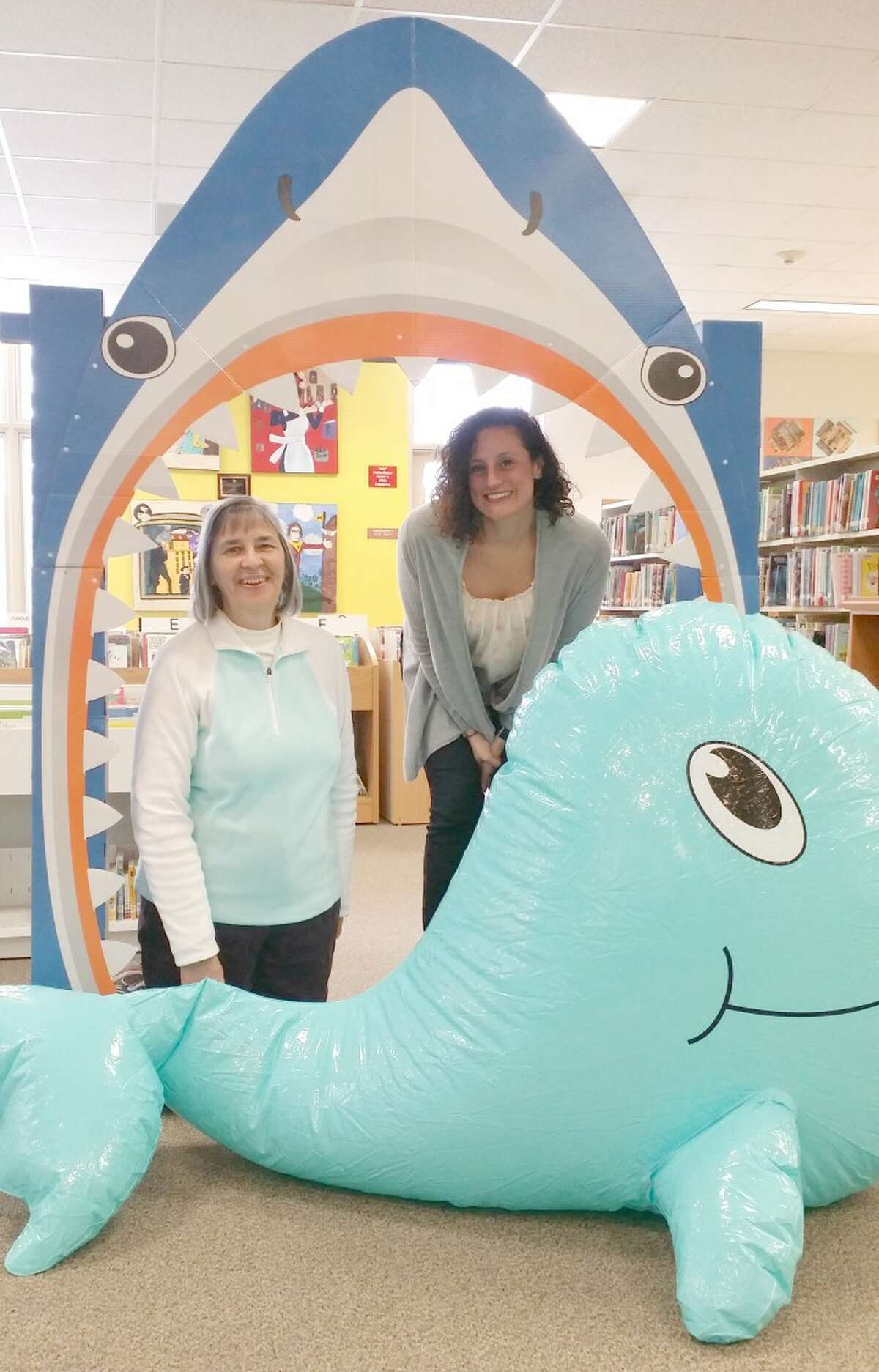 The library and its staff are in the process of transforming the building into a beach-type getaway for residents.