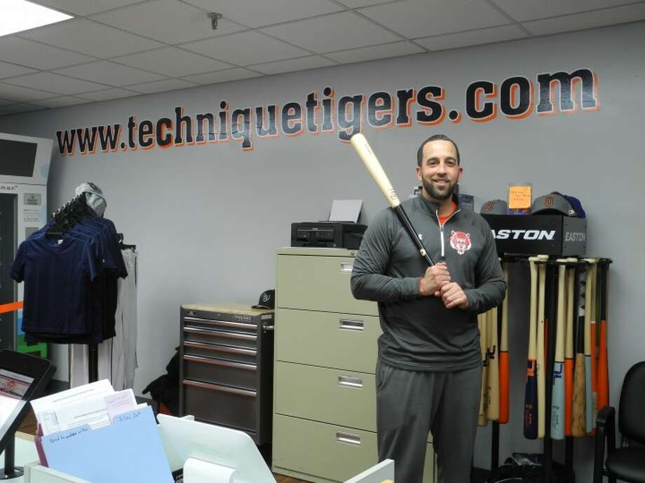 Manny Torres inside his Technique Tigers Baseball facility located at 25 Lindeman Drive.