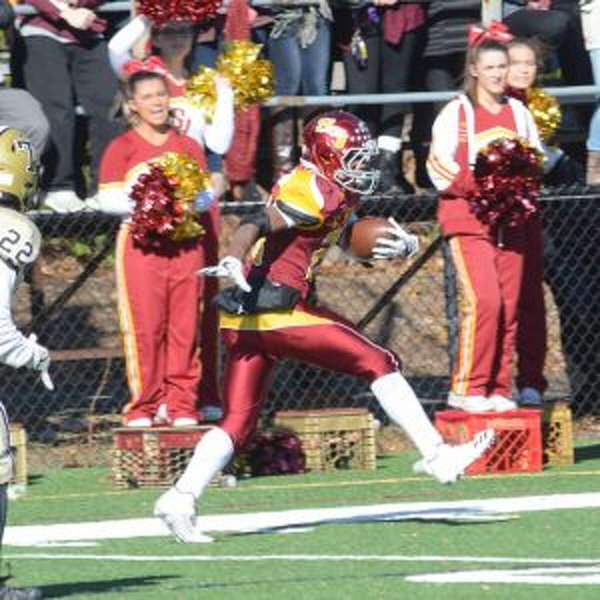 Jaden Shirden rushed for four touchdowns in St. Joseph's 65-6 win over Trumbull on Thanksgiving. - Andy Hutchison photo